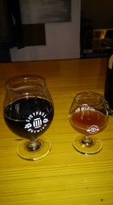 maple stout and a sample