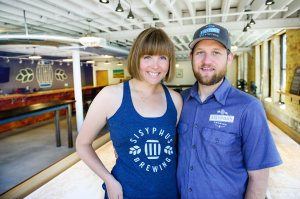 Sam and Catherine Harriman Owners of Sisyphus Brewing.